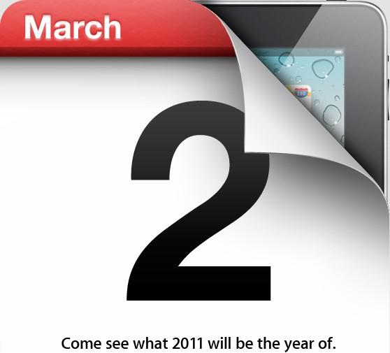 Confirmado: iPad 2 para el 2 de marzo