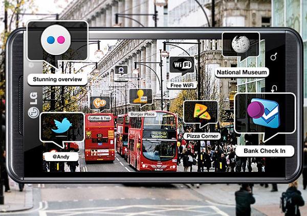 LG Optimus 3D y la realidad aumentada