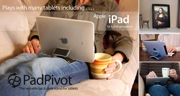 PadPivot, nuevo concepto de soporte para iPad y otros gadgets