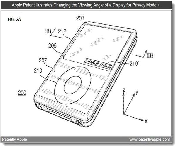 Nueva Patente Apple pantalla privacidad