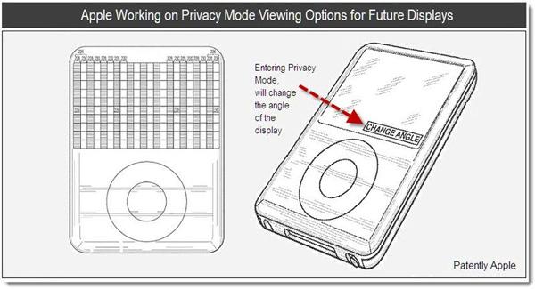 Nueva patente Apple pantalla con privacidad