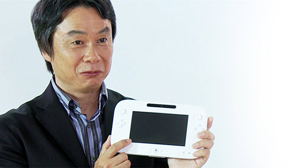 Miyamoto y el mando de la Wii U