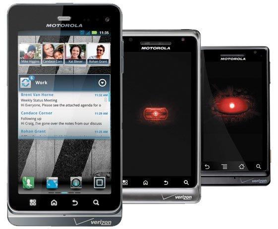 Motorola Milestone 1, 2 y 3