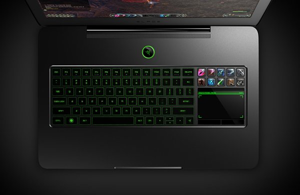 Razer Blade portátil gamer teclado