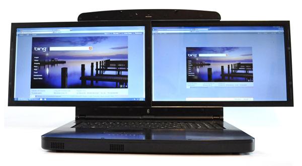 Spacebook, el portátil de las dos pantallas de 17 pulgadas
