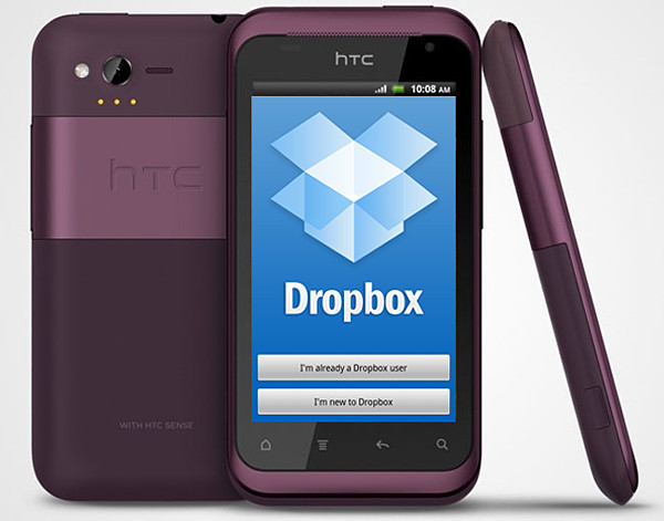 HTC Rhyme Dropbox