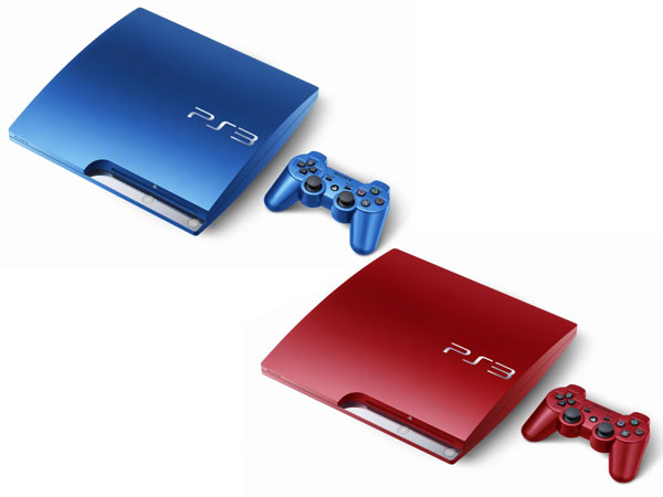PlayStation 3 rojo azul