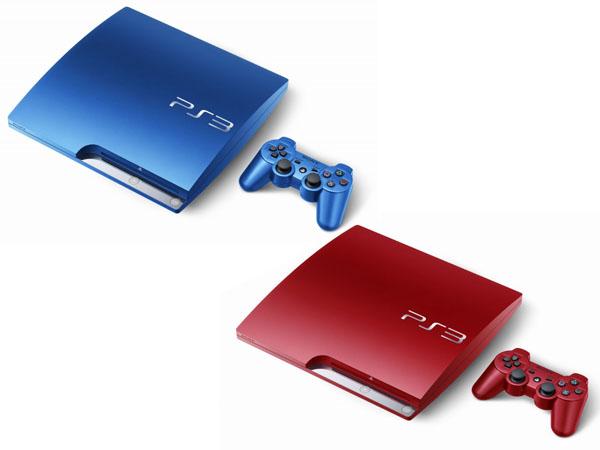PlayStation 3 rojo azul