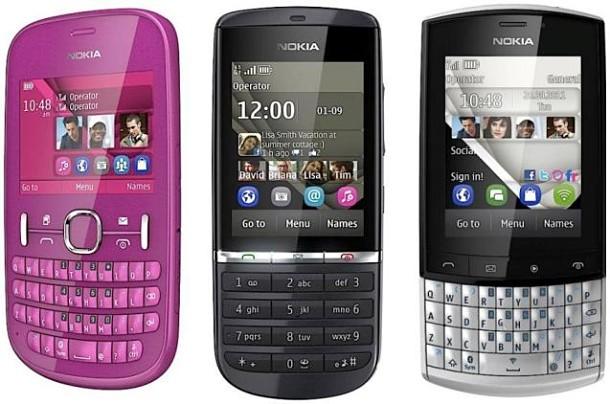 Nokia Asha 200, 201, 300 y 303