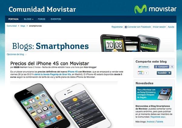 iPhone 4S Movistar precios