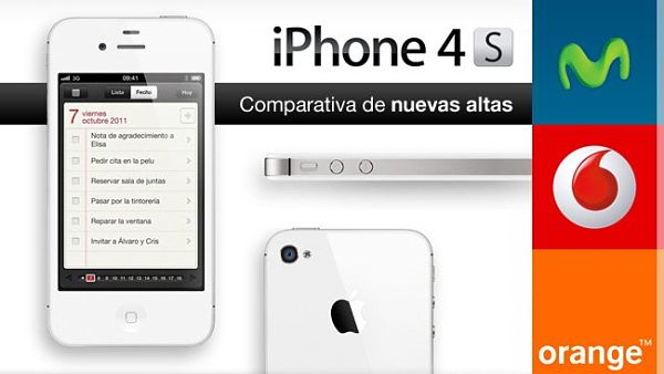 iPhone 4S con Vodafone, Orange o Movistar