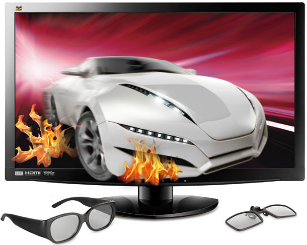 ViewSonic V3D231 monitor hd 3d