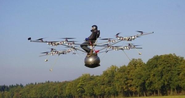 Multicóptero tripulado