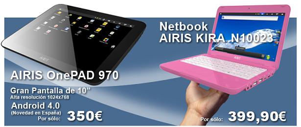Airis presenta sus nuevos tablets y netbooks con Android