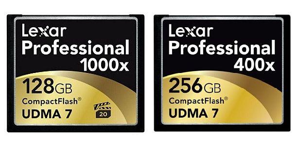 tarjetas CompactFlash lexar 256 GB
