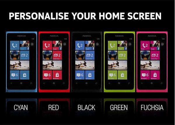 Nokia Lumia 800 en dos nuevos colores