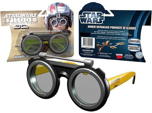 Gafas conmemorativas para el estreno en 3D de Star Wars: La Amenaza Fantasma