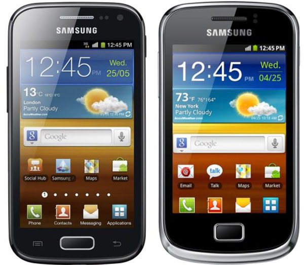 Samsung Galaxy Mini 2 y Galaxy Ace 2