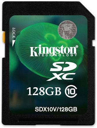 kingston SDXC Class 10 128 gb