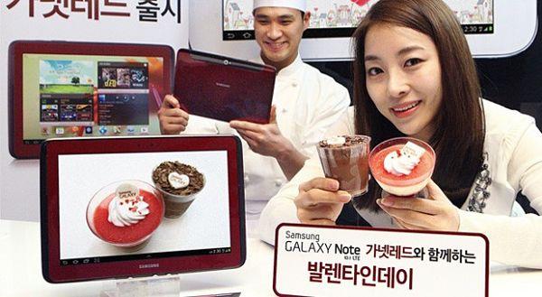 Samsung Galaxy Note 10.1 red