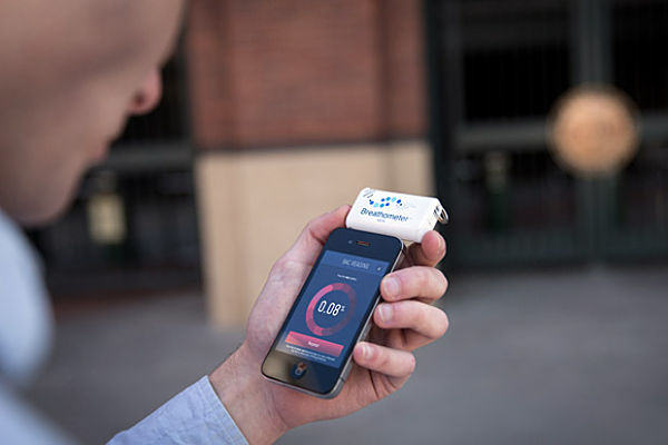 Breathometer alcoholimetro ios android