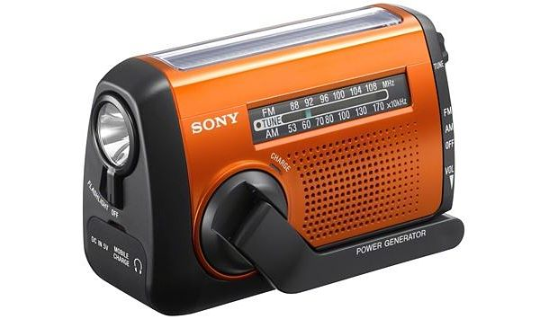 Sony ICF-B88 radio linterna cargador